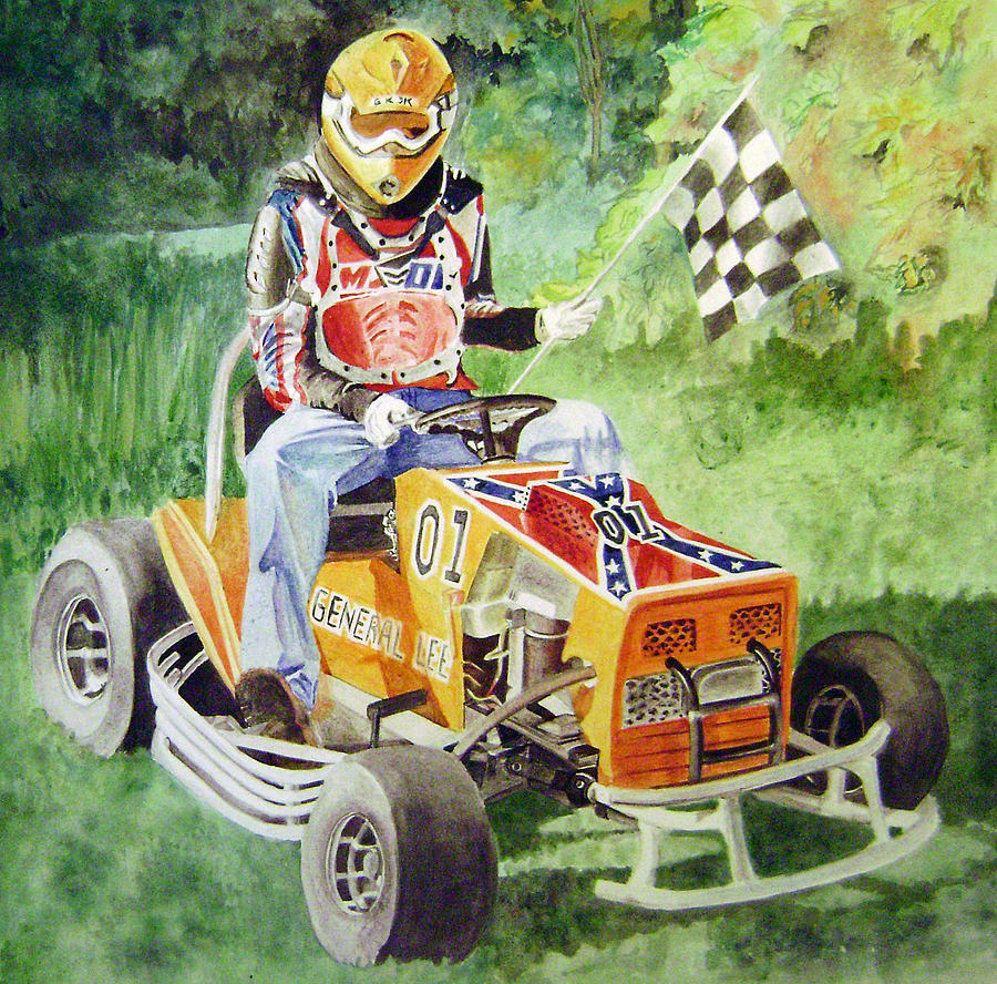 Watercolor Painting - General Lee by Shannon Gates