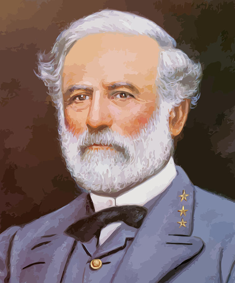 Robert E Lee Painting - General Lee by War Is Hell Store