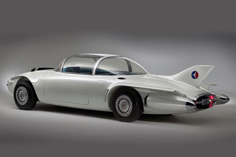 Car Digital Art - General Motors Firebird II by Dorothy Binder
