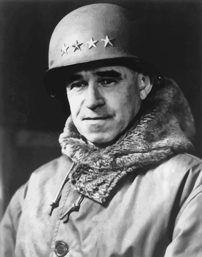 Omar Bradley Painting - General Omar Bradley by War Is Hell Store