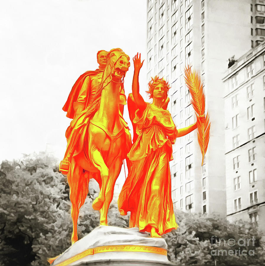 General Sherman Statue Grand Army Plaza Central Park Photograph
