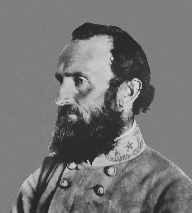 Stonewall Jackson Painting - General Stonewall Jackson Profile by War Is Hell Store