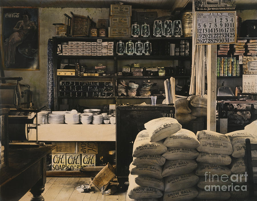 1936 Photograph - General Store, 1936 by Granger
