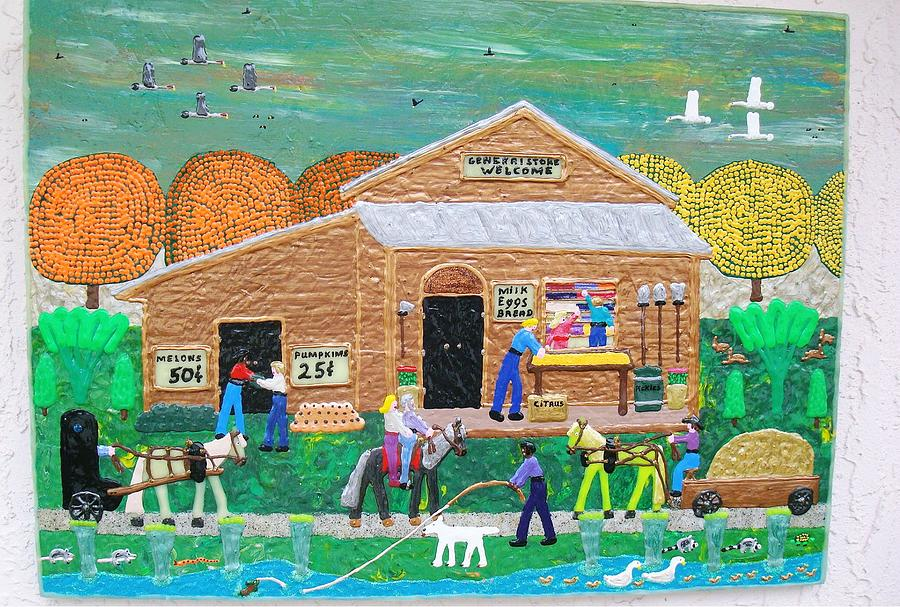 Puff Painting - General Store by Jack Beverland