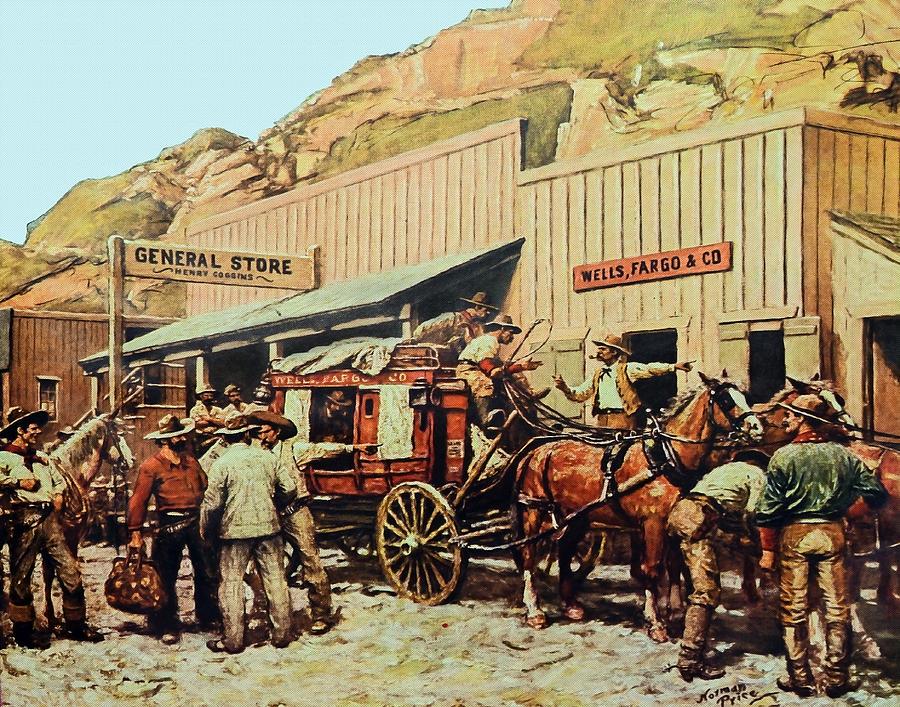 Antique Photograph - General Store by Susan Leggett