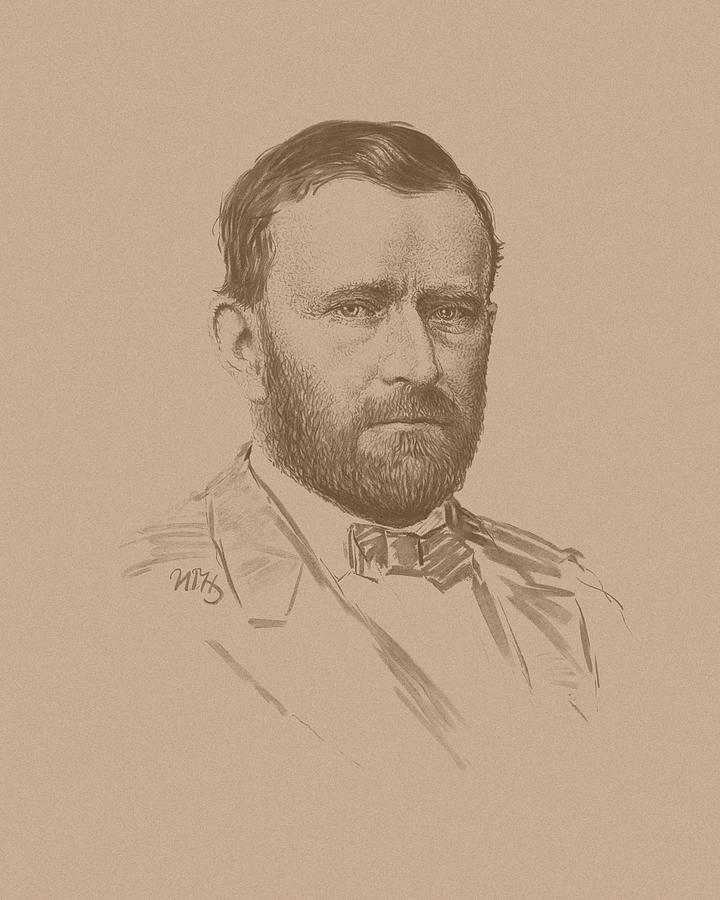 Ulysses S Grant Mixed Media - General Ulysses S Grant by War Is Hell Store