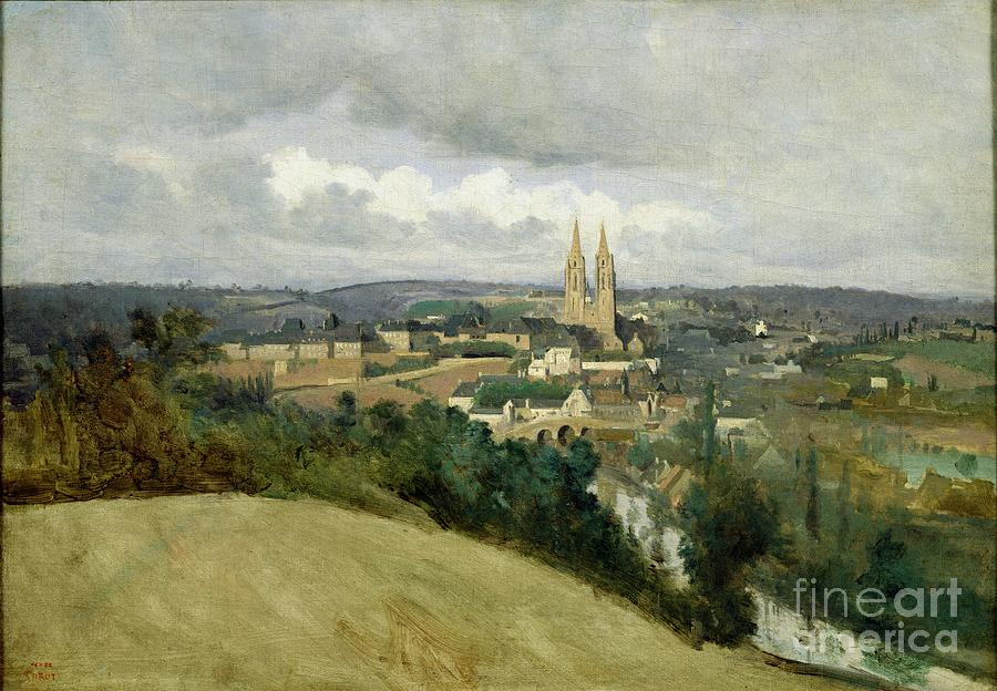 General Painting - General View Of The Town Of Saint Lo by Jean Corot