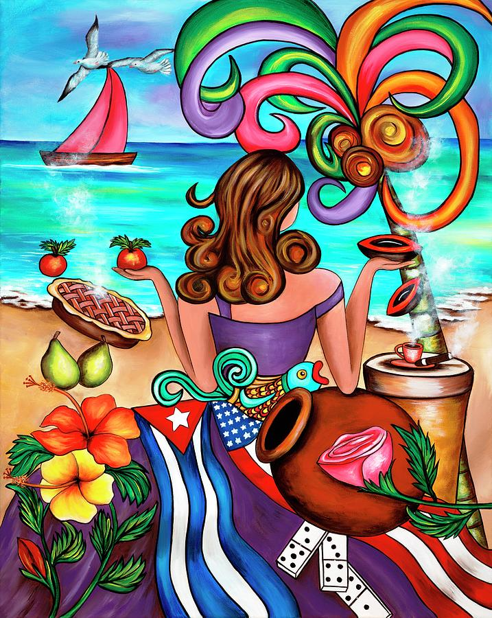 Cuba Painting - Generation Spanglish by Annie Maxwell