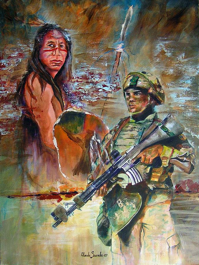 Solider Painting - Generation Warriors by Glenda Saucedo