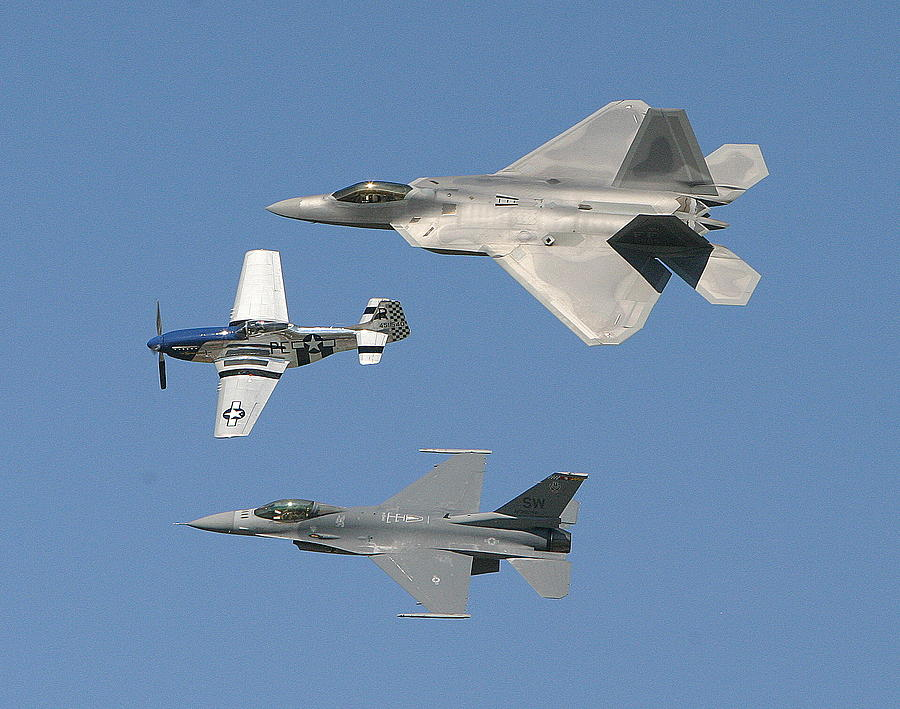 F-22 Photograph - Generations by Donald Tusa