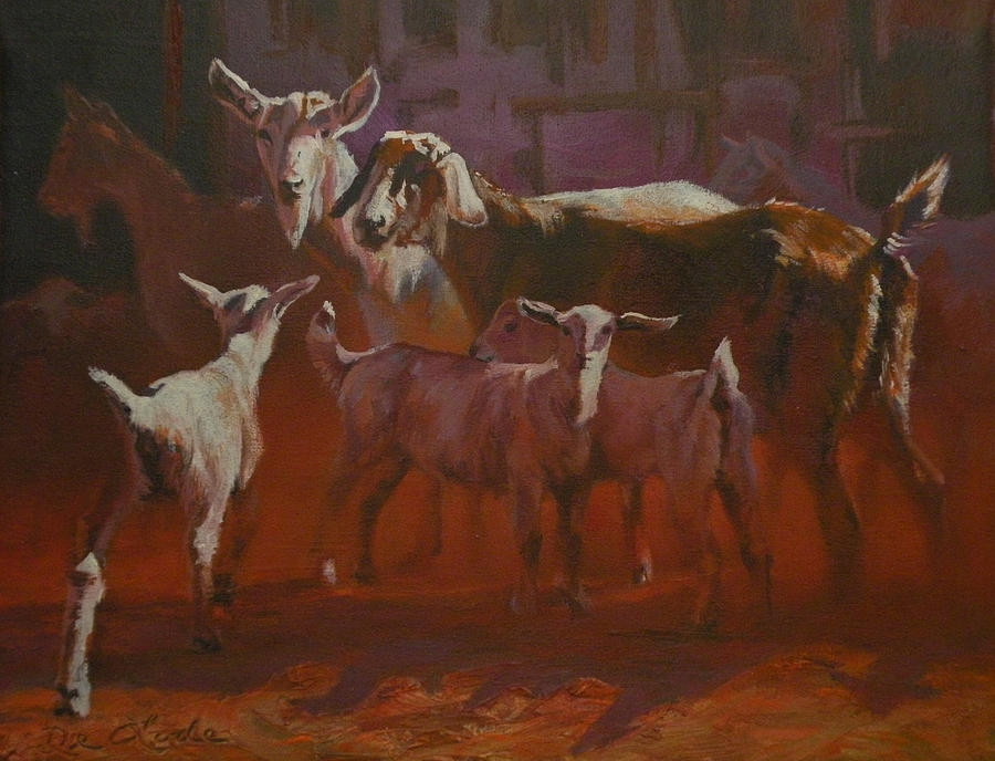 Goats Painting - Generations by Mia DeLode