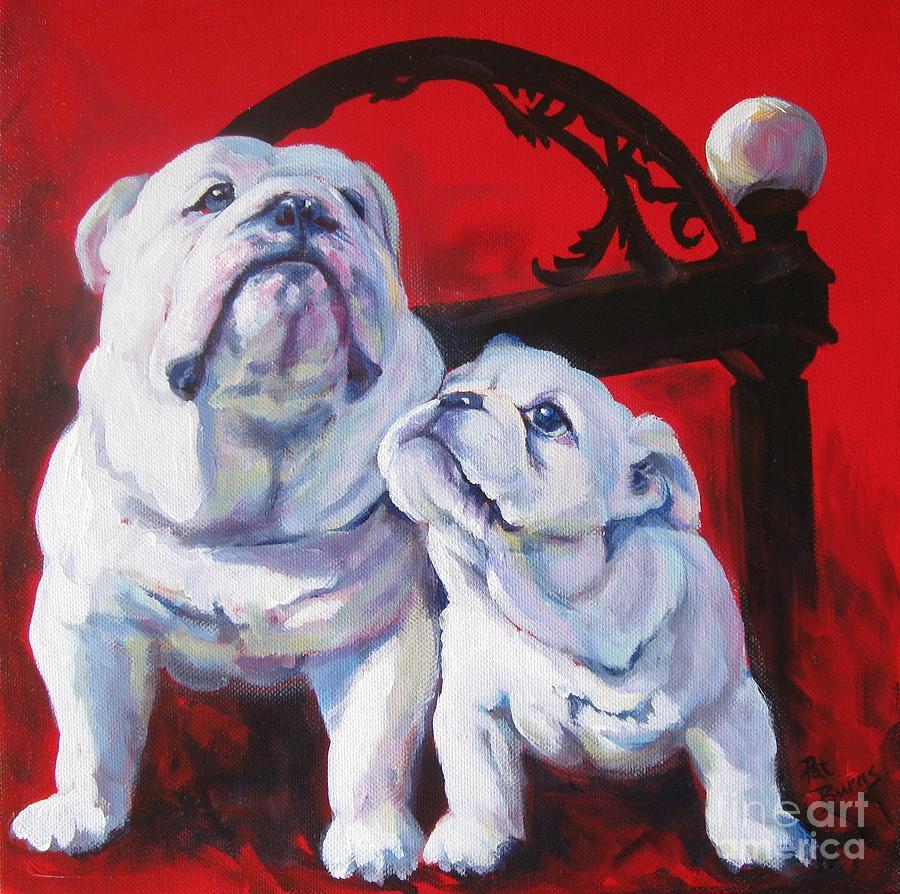 Uga Painting - Generations Of Uga by Pat Burns