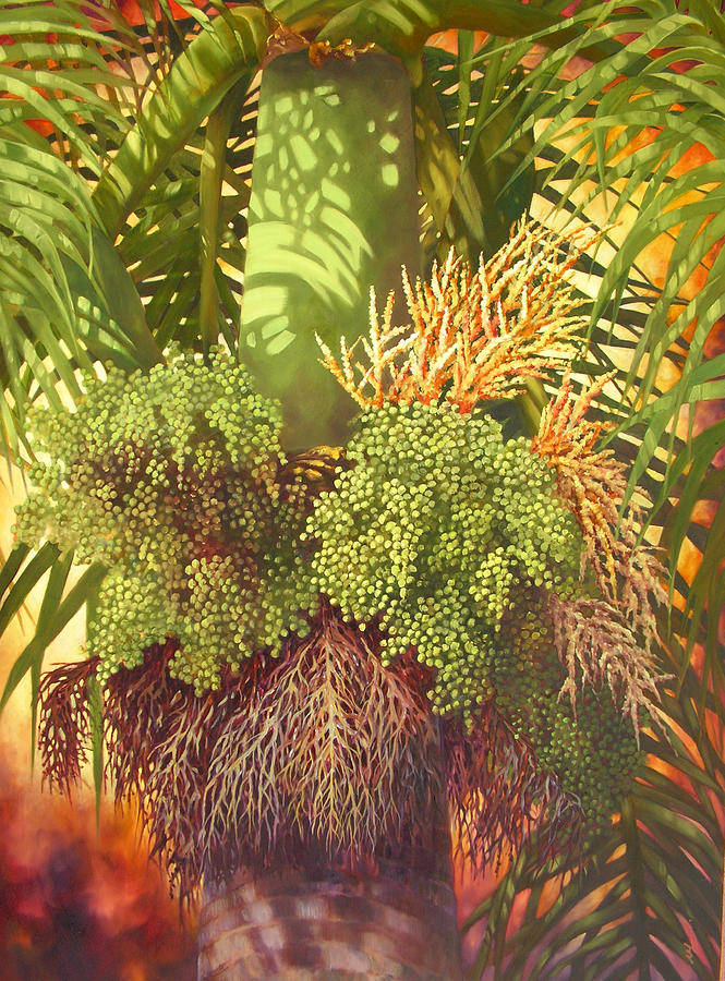 Palm Tree Painting - Generations Palm by Monica Linville