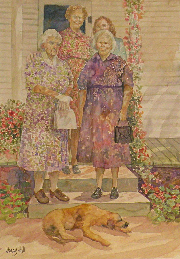 Family Painting - Generations by Wendy Hill