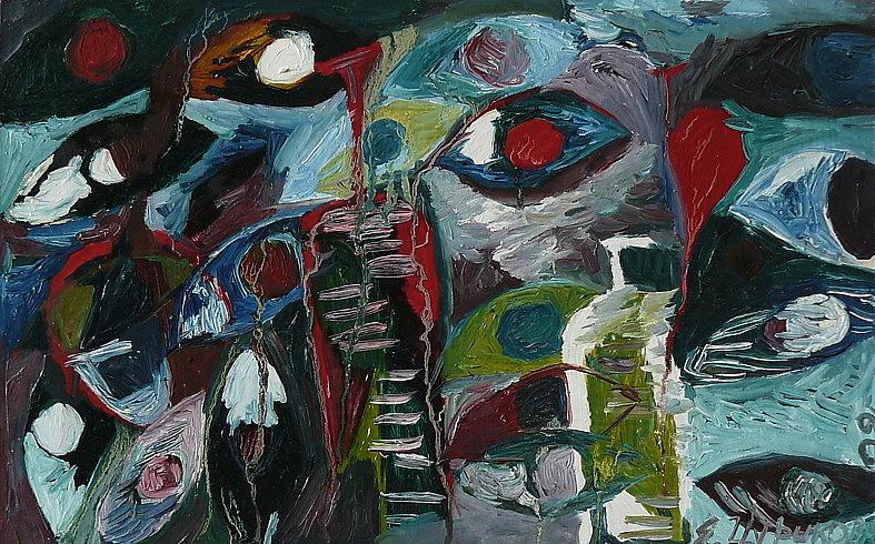 Genesis Painting - Genesis by Ket Gun