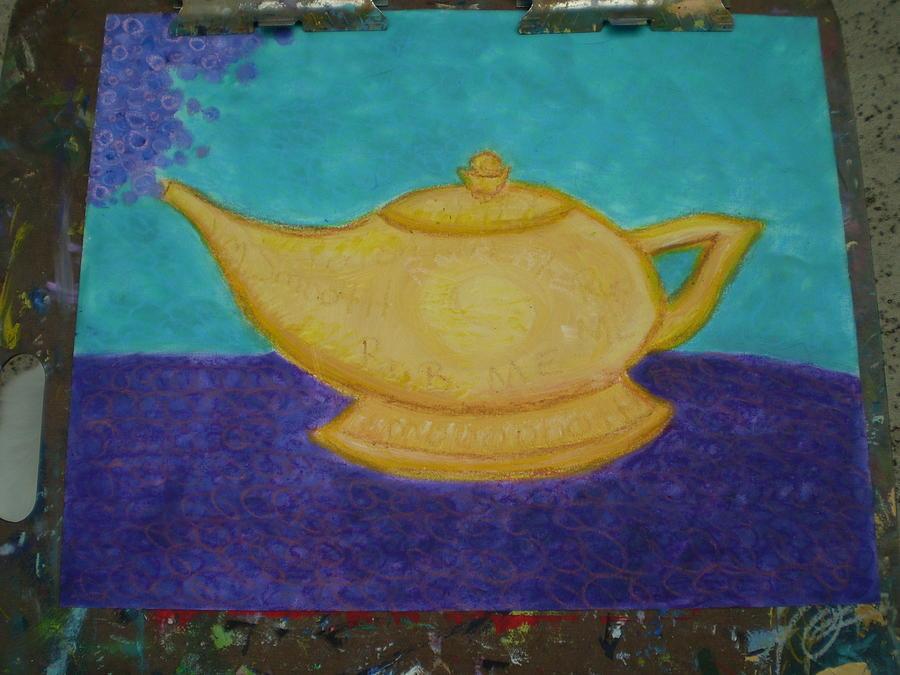 Genie Lamp Painting by Joy Babb
