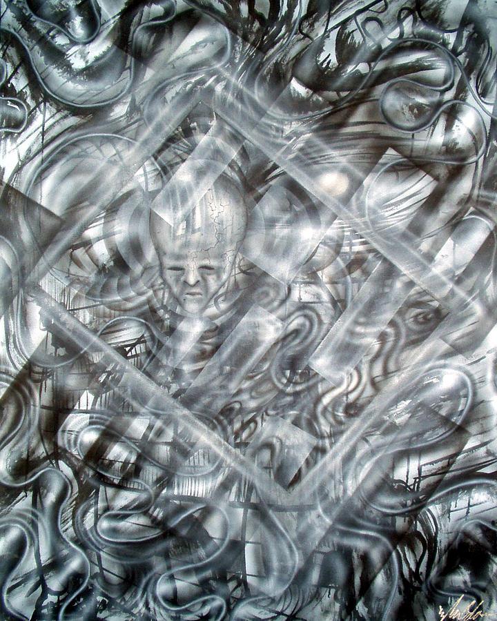 Alien Painting - Genius by Leigh Odom