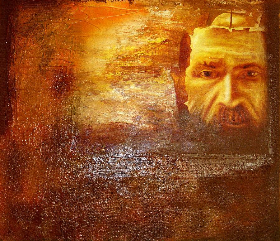 Oil Painting - Genius by Romeo Niram