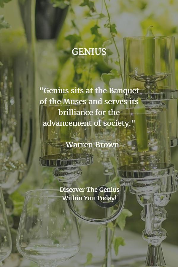 Genius Digital Art - Genius by Warren Brown