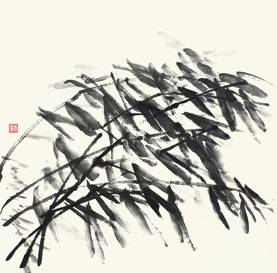 Bamboo Painting - Gentle Bending Bamboo - Homage to Catalonia by Nadja Van Ghelue