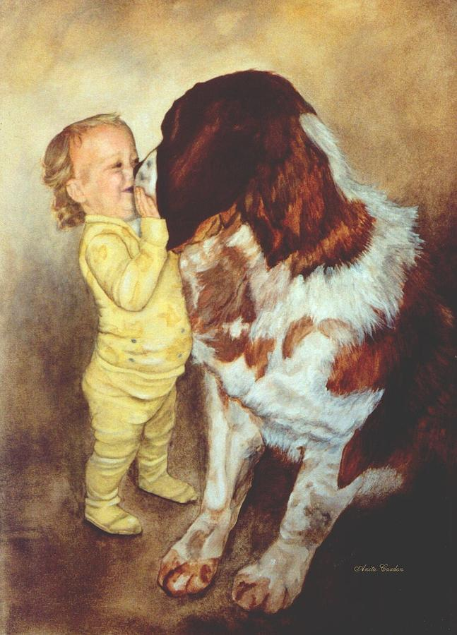 Dog Painting - Gentle Giant by Anita Carden