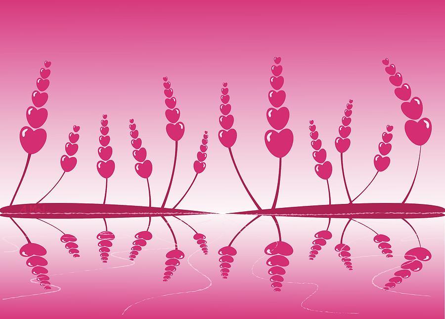 Reflection Digital Art - Gentle Hearts by Anastasiya Malakhova