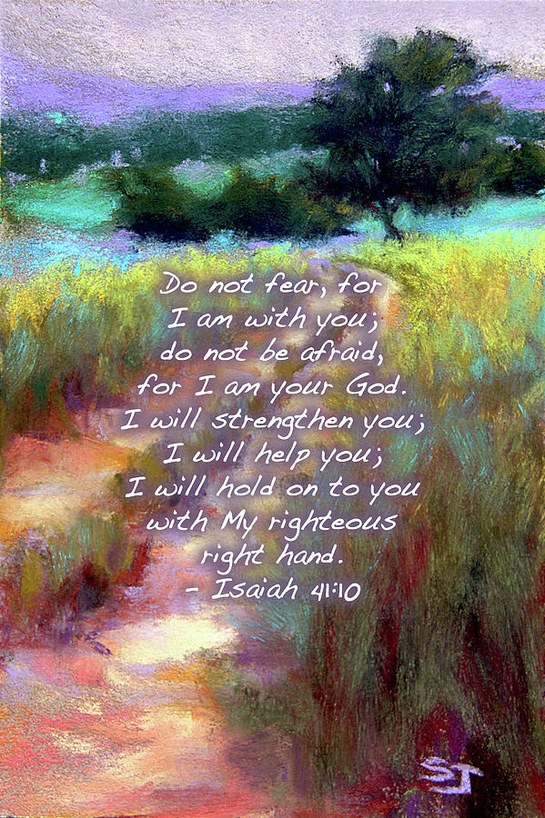 Isaiah Painting - Gentle Journey With Bible Verse by Susan Jenkins