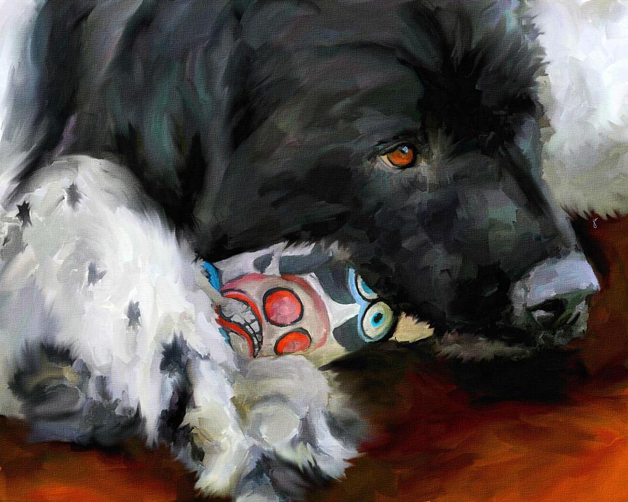 Newfoundland Painting - Gentle Soul by Jai Johnson