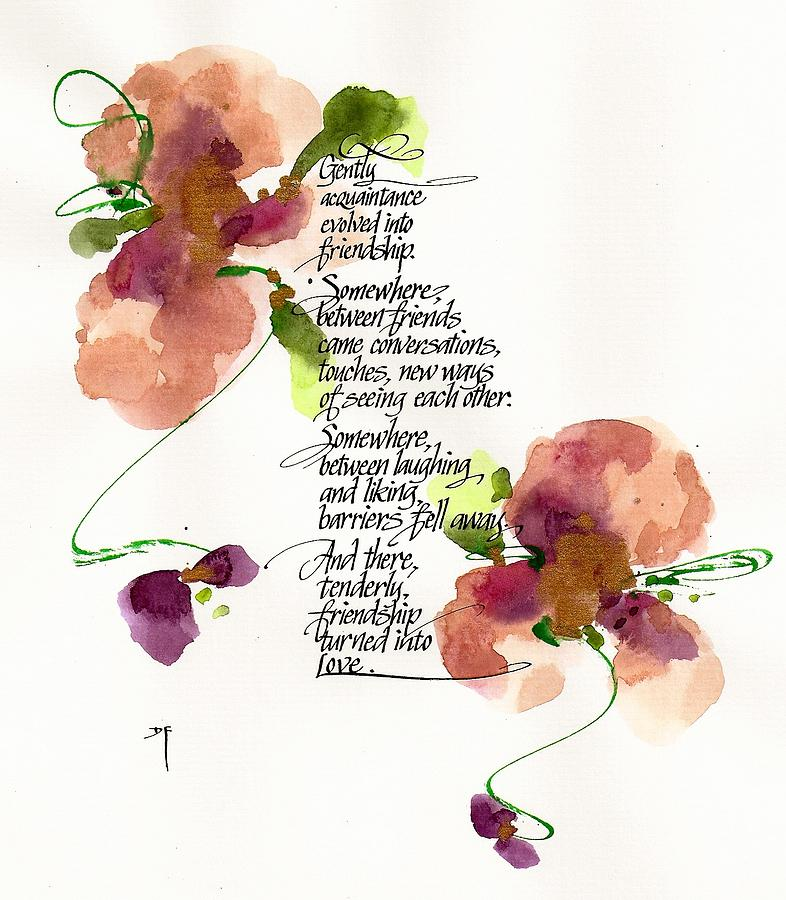 Blossoms Drawing - Gently by Darlene Flood