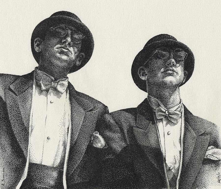 Male Drawing - Gents by Amy S Turner