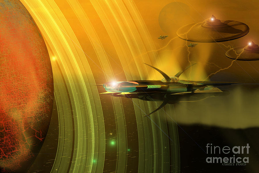 Space Art Painting - Genx 12 by Corey Ford