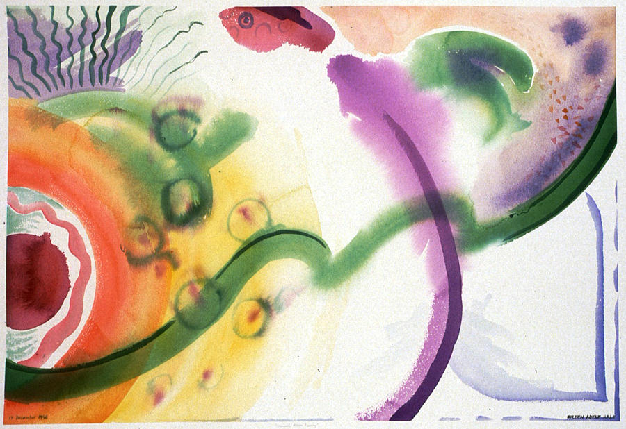 Abstract Painting - Geomantic Blossom Ripening by Eileen Hale