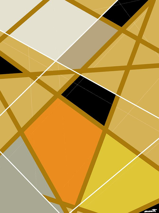 Geometric Digital Art - Geometric Abstract 1 by Patric Mouth