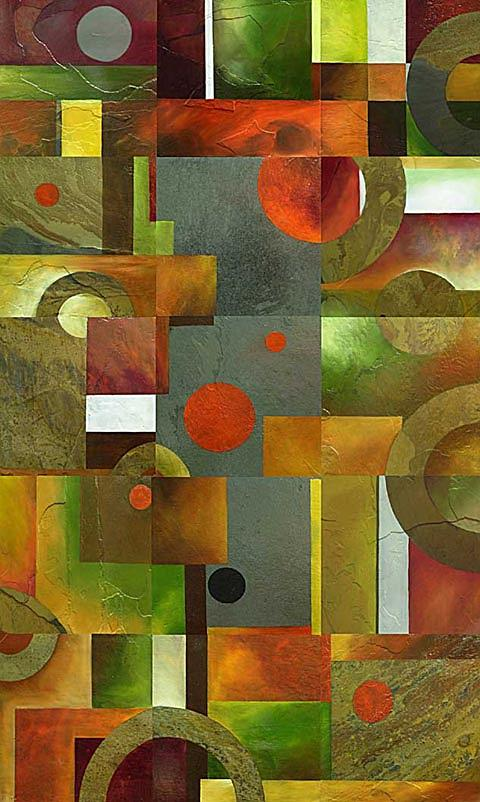 Geometric Abstract One Painting by Brian  Major