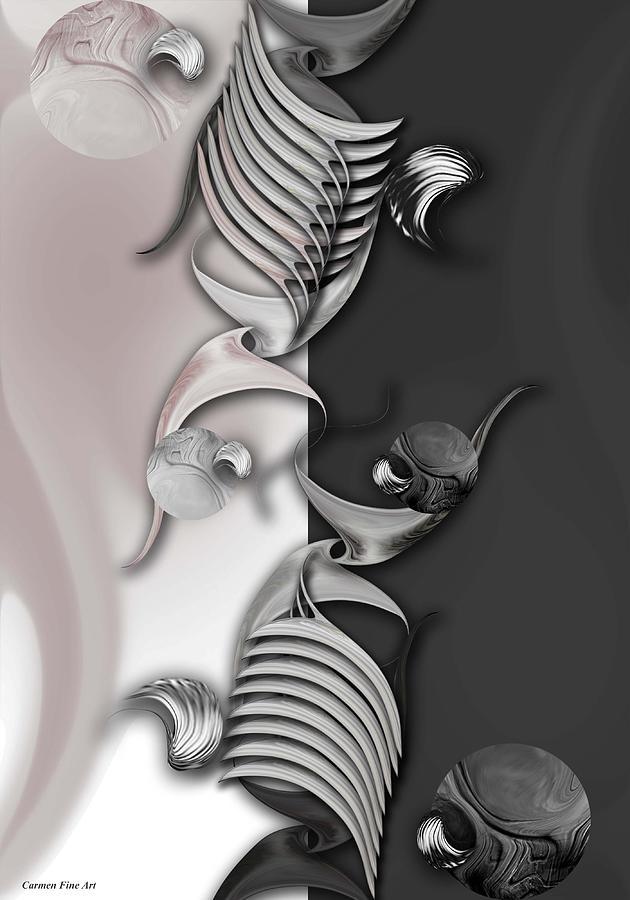Abstract Digital Art - Geometric Approach by Carmen Fine Art