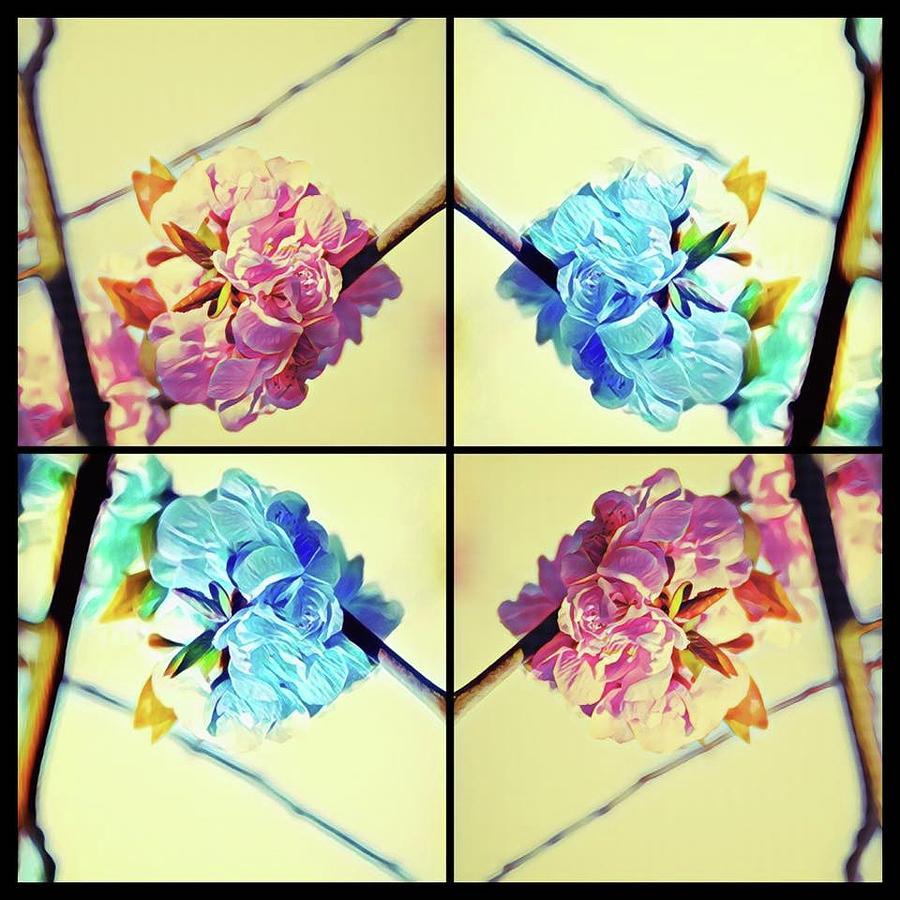 Geometric Cherry Blossoms Digital Art by Devon LeBoutillier