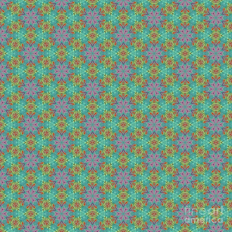 Pattern Digital Art - Geometric Flower Pattern 2 by Alisha at AlishaDawnCreations