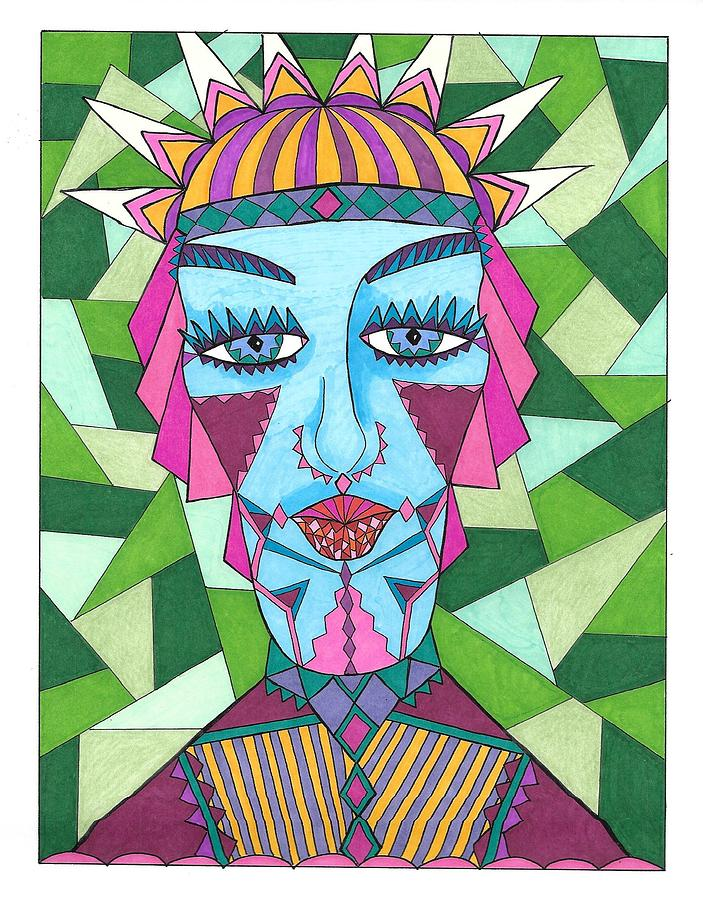 Geometric King by Roberta Dunn
