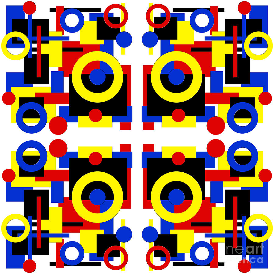 Geometric Shapes Abstract Square 4 Digital Art by Andee Design