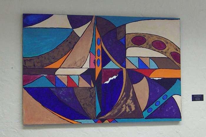Painting Painting - Geometric  Surprise by Estelle La Belle
