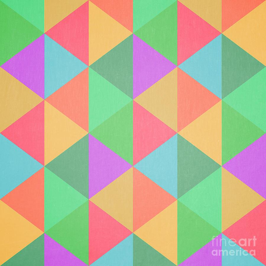 Geometric Triangles Abstract Square Digital Art