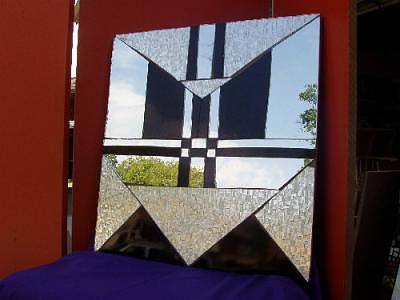 Geometric Wall Hanging Glass Art by Shelly Bird