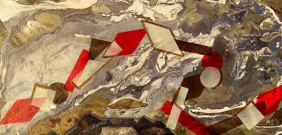 Geometrical Rope Painting by Evguenia Men