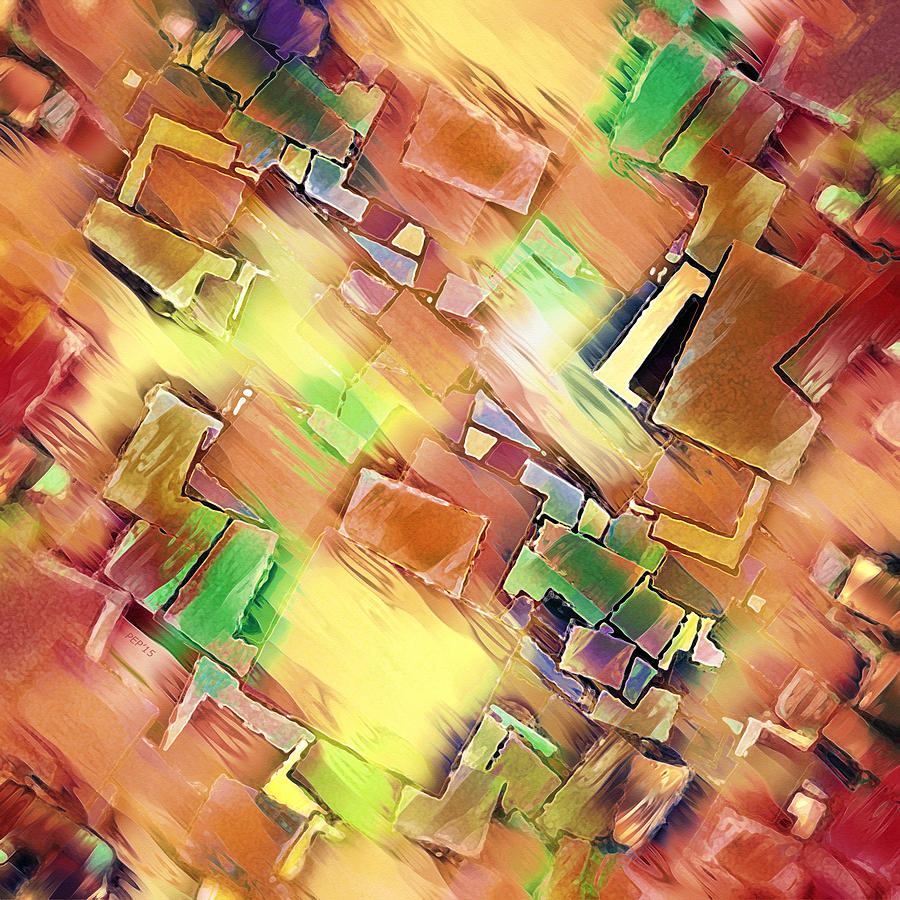 Abstract Digital Art - Geometry In Art by Phil Perkins