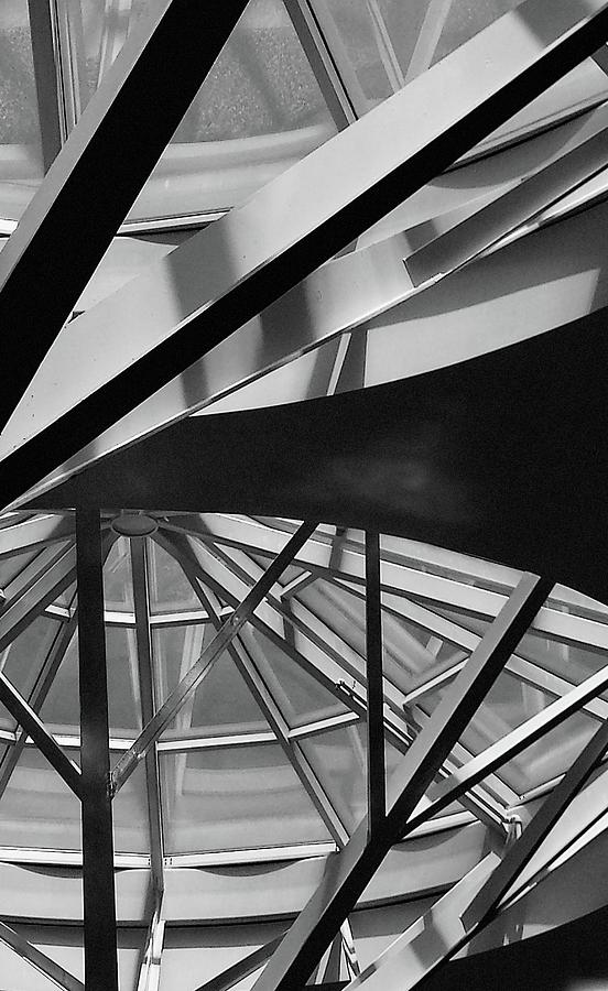 Architecture Photograph - Geometry In Black And White by Winnie Chrzanowski