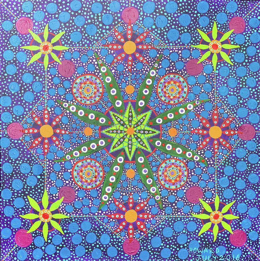 Ayahuasca Painting - Geometry Of An Arkana by Howard Charing