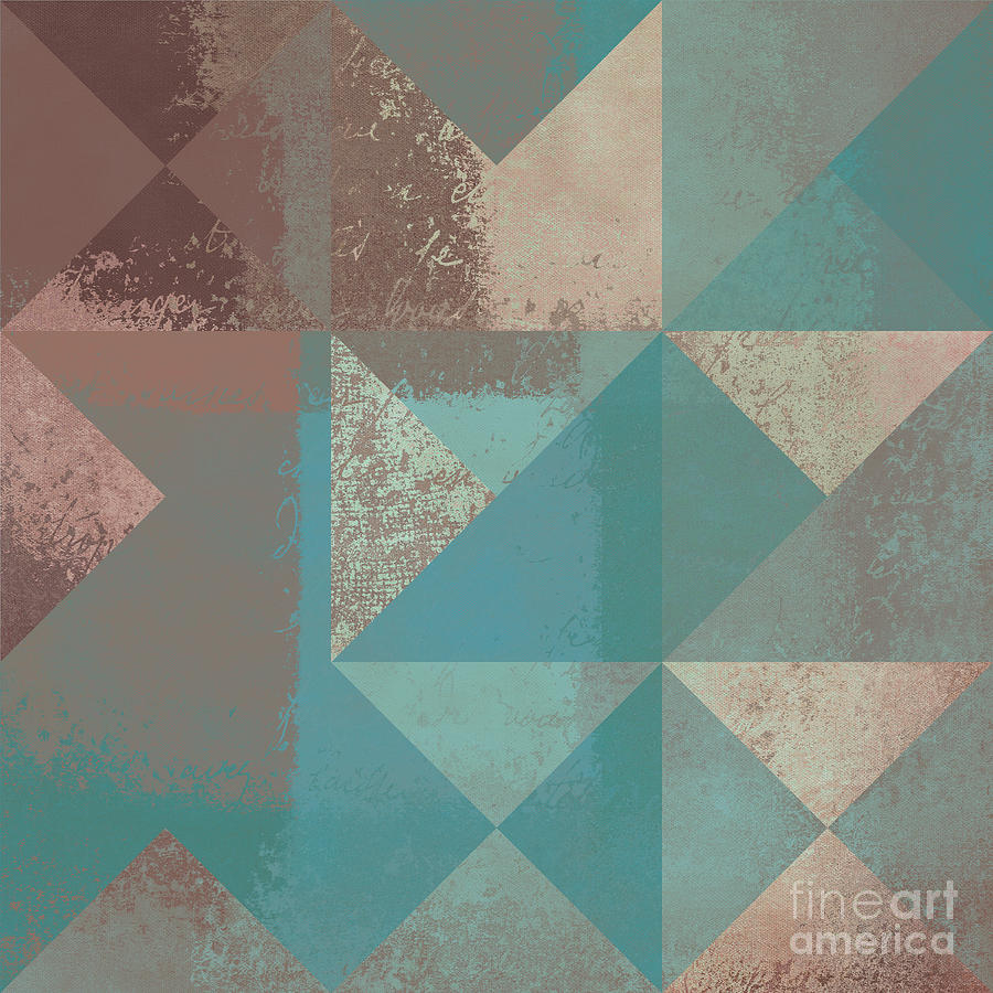 Abstract Digital Art - Geomix 03 - S123bc04t2a by Variance Collections