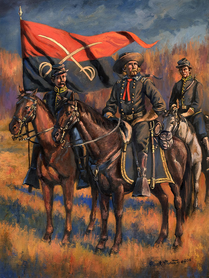 Civil War Painting - George Armstrong Custer by Mark Maritato