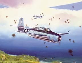 Military Painting - George Bush Over Chichi Jima by Marc Stewart