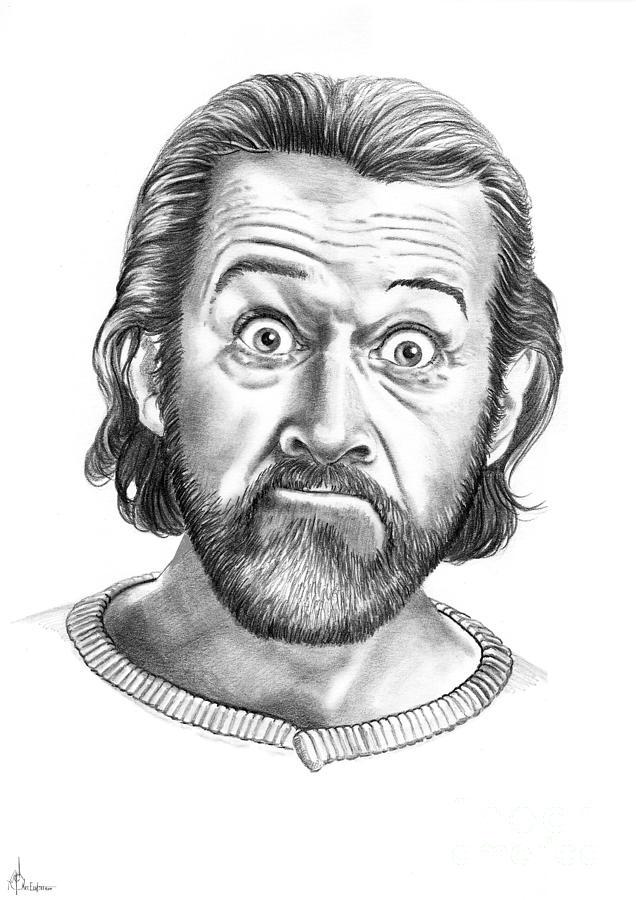 Portrait Drawing - George Carlin by Murphy Elliott